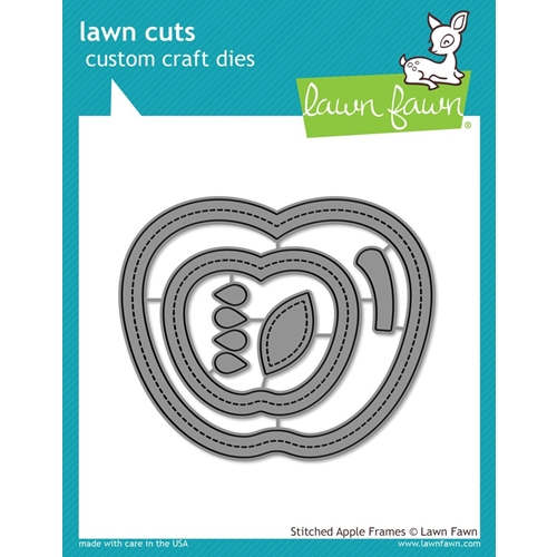 Lawn Fawn STITCHED APPLE FRAMES Die Cuts LF1796* Preview Image
