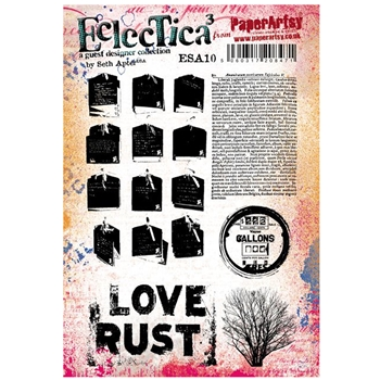 Paper Artsy SETH APTER 10 ECLECTICA3 Cling Stamp esa10*
