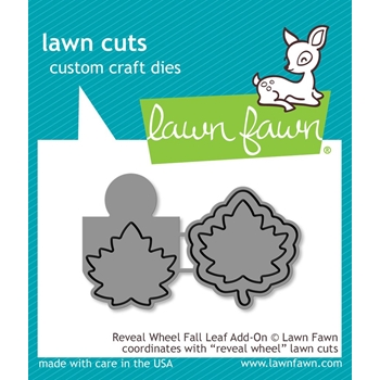 Lawn Fawn REVEAL WHEEL ADD-ON LEAF Die Cuts LF1793