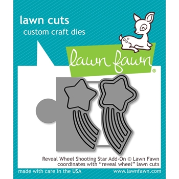 Lawn Fawn REVEAL WHEEL ADD-ON SHOOTING STAR Die Cuts LF1792