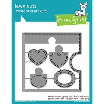 Lawn Fawn REVEAL WHEEL SQUARE ADD-ON Die Cuts LF1791