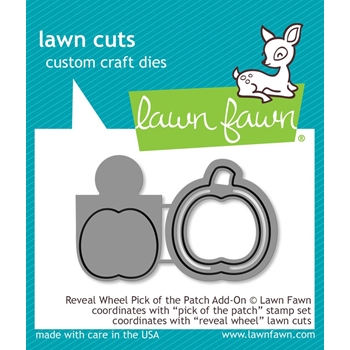 Lawn Fawn REVEAL WHEEL ADD-ON PICK OF THE PATCH Die Cuts LF1756
