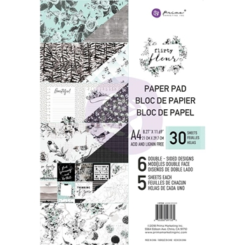 Prima Marketing A4 Paper Pad FLIRTY FLEUR 597535*