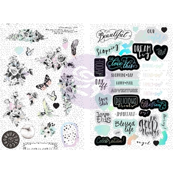 Prima Marketing FLIRTY FLEUR Chipboard Stickers 597573*