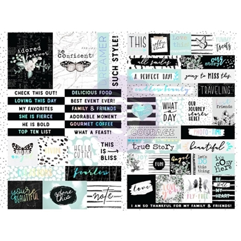 Prima Marketing FLIRTY FLEUR Word & Quote Stickers 597658*