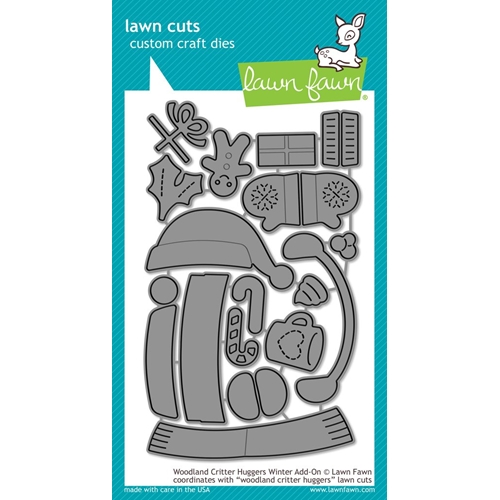 Lawn Fawn WOODLAND CRITTER HUGGERS WINTER ADD-ON Die Cuts LF1788 Preview Image