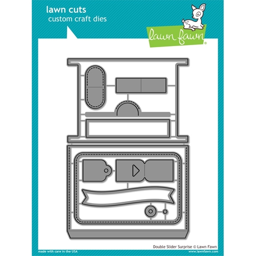 Lawn Fawn DOUBLE SLIDER SURPRISE Die Cuts LF1781 Preview Image
