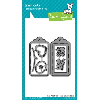 Lawn Fawn SAY WHAT GIFT TAGS Die Cuts LF1780