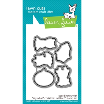 Lawn Fawn SAY WHAT CHRISTMAS CRITTERS Die Cuts LF1779
