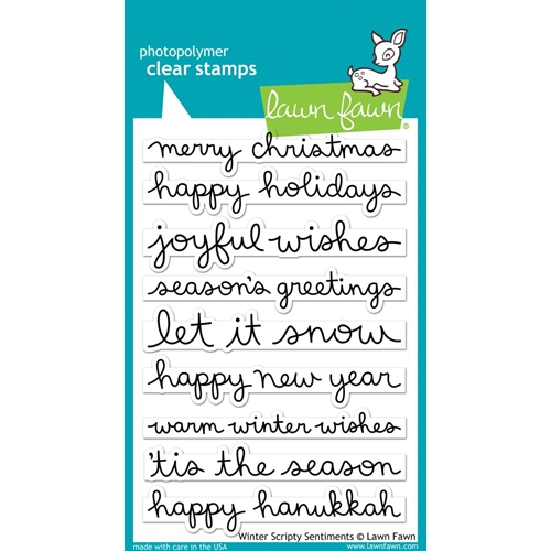 Lawn Fawn WINTER SCRIPTY SENTIMENTS Clear Stamps LF1773 Preview Image