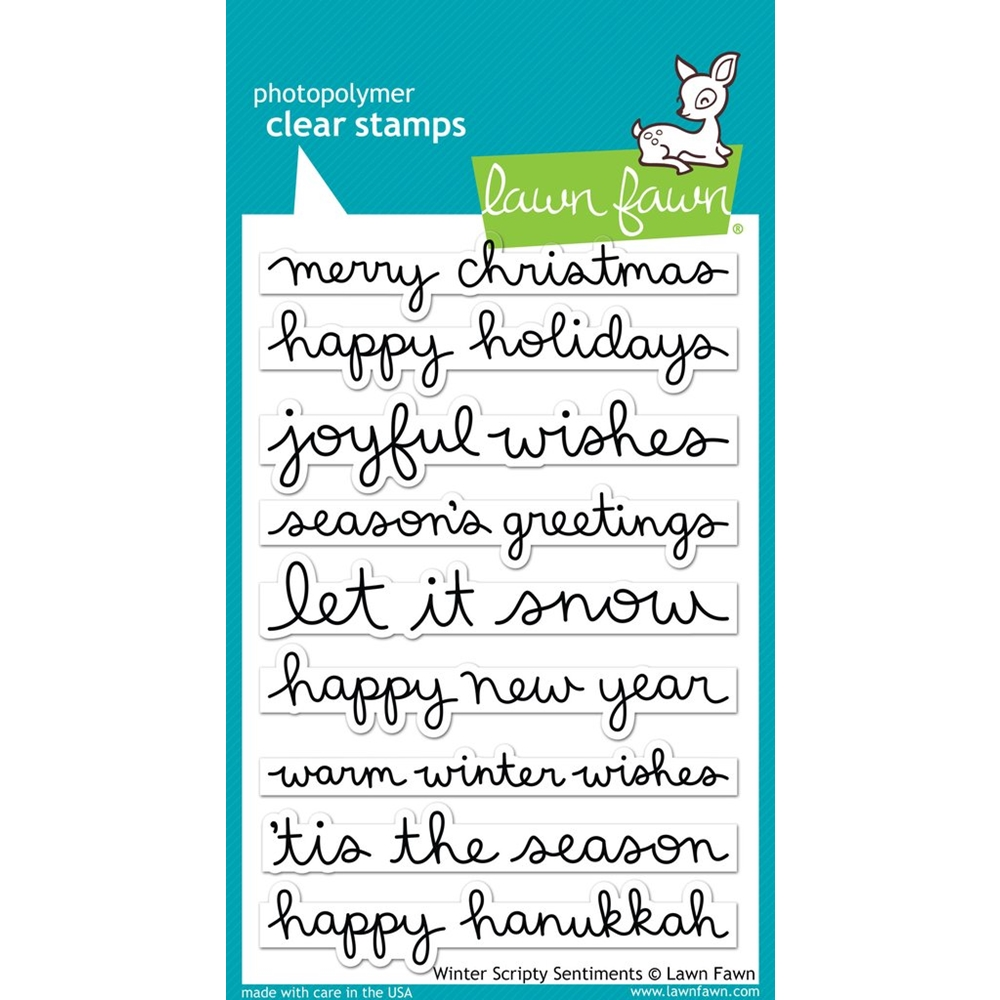 Lawn Fawn WINTER SCRIPTY SENTIMENTS Clear Stamps LF1773 zoom image