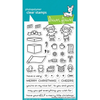 Lawn Fawn HOLIDAY HELPERS Clear Stamps LF1767