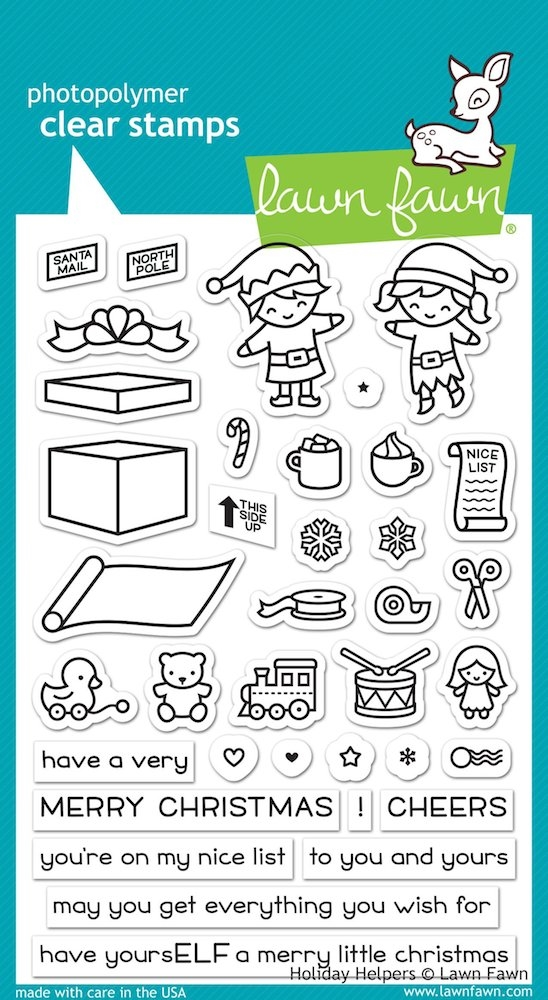 Lawn Fawn HOLIDAY HELPERS Clear Stamps LF1767 zoom image