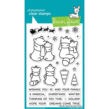 Lawn Fawn WINTER SKIES Clear Stamps LF1763