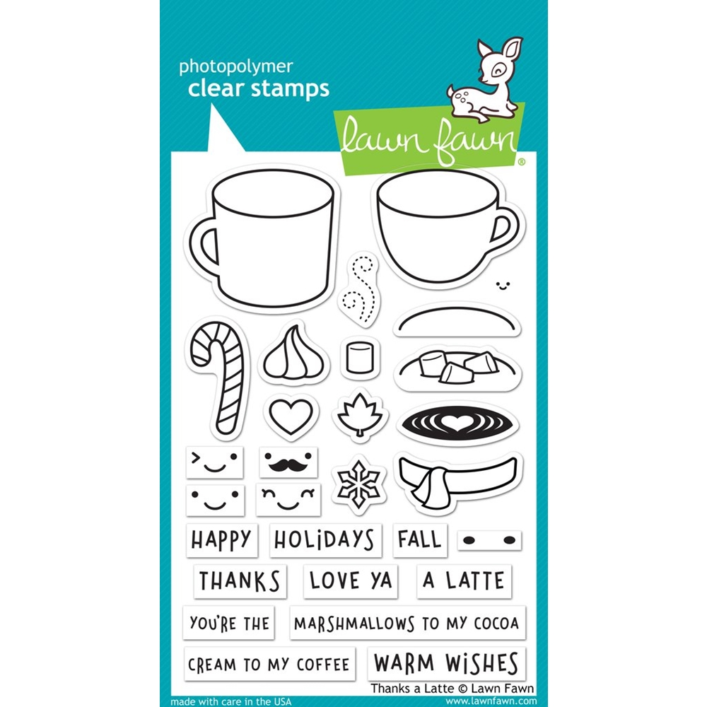 Lawn Fawn Thank's a Latte Clear Stamp Set