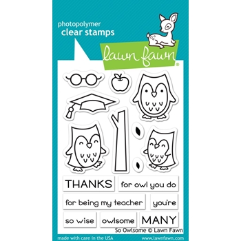 Lawn Fawn SO OWLSOME Clear Stamps LF1757