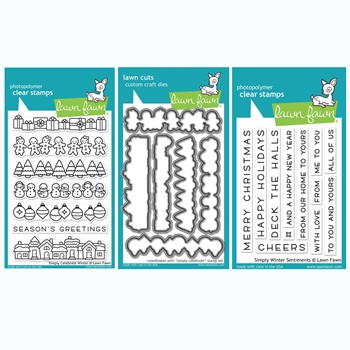 Lawn Fawn SET SIMPLY CELEBRATE WINTER Clear Stamps and Dies BLFSCW