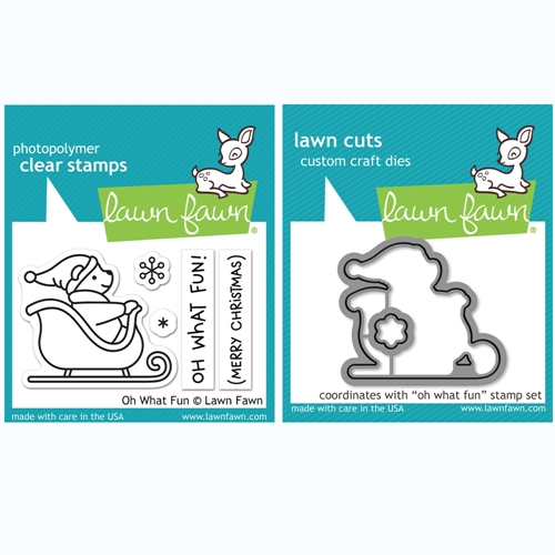 Lawn Fawn SET OH WHAT FUN Clear Stamps and Dies BLFOWF Preview Image