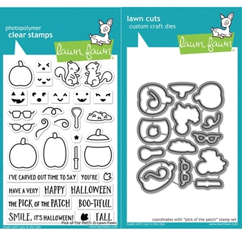 Lawn Fawn SET PICK OF THE PATCH Clear Stamps and Dies BLFPP