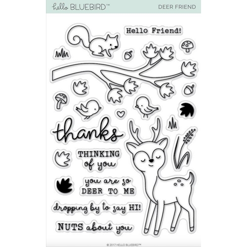 Hello Bluebird DEER FRIEND Clear Stamps hb2012 Preview Image