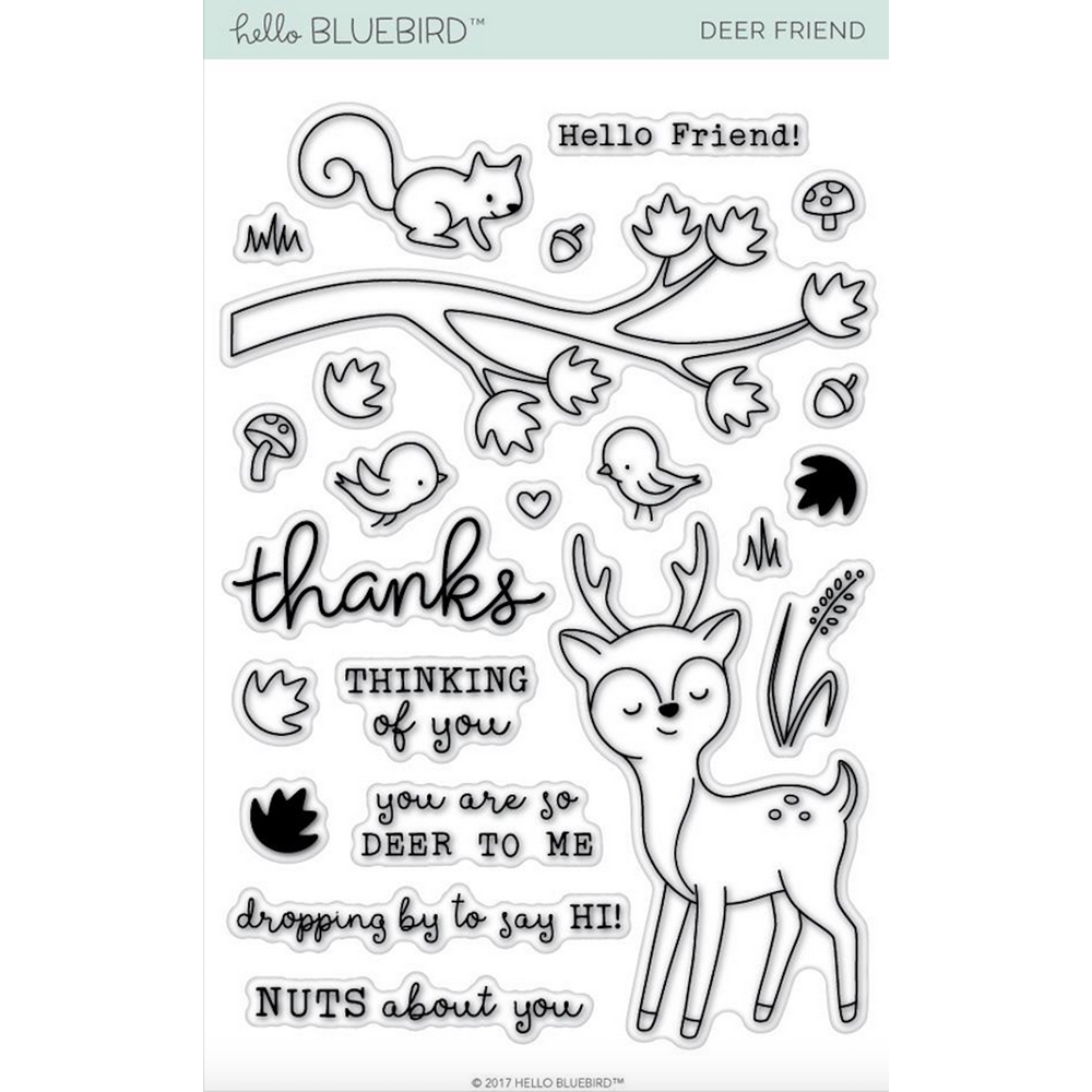 Hello Bluebird DEER FRIEND Clear Stamps hb2012 zoom image