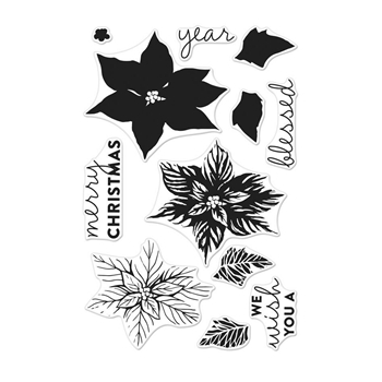 Hero Arts Clear Stamps Color Layering POINSETTIA CM280