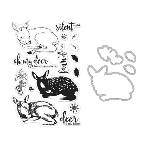 Hero Arts Color Layering FAWN Clear Stamp and Die Bundle SB207 Preview Image