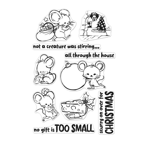 Hero Arts Clear Stamps CHRISTMAS MICE CM281* Preview Image