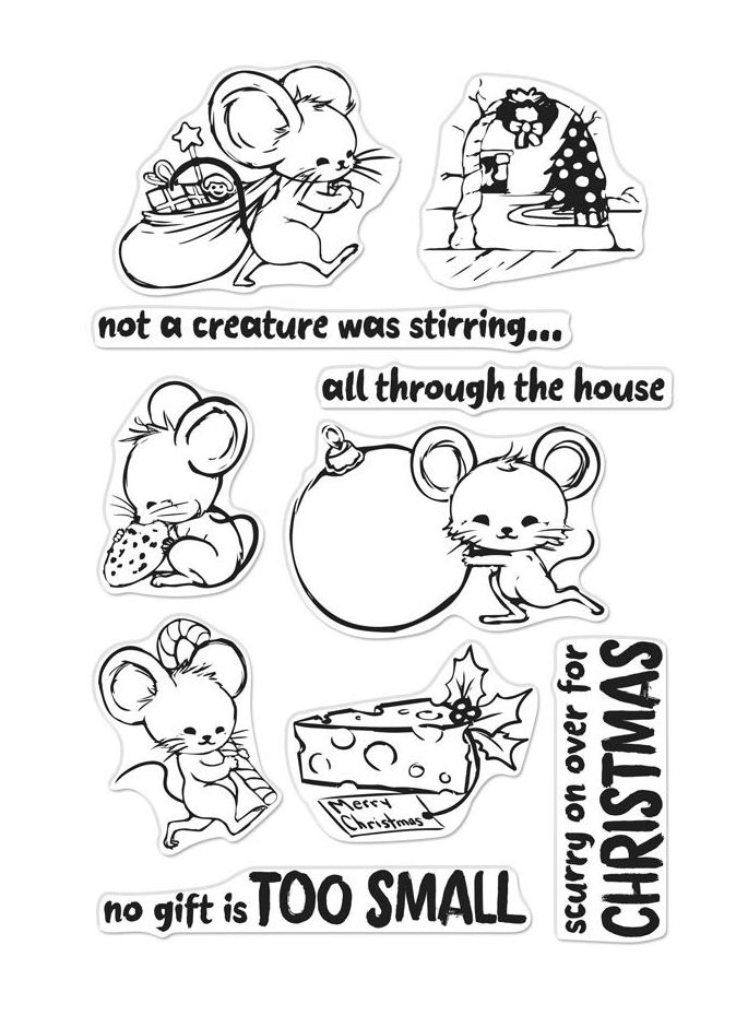 Hero Arts Clear Stamps CHRISTMAS MICE CM281* zoom image