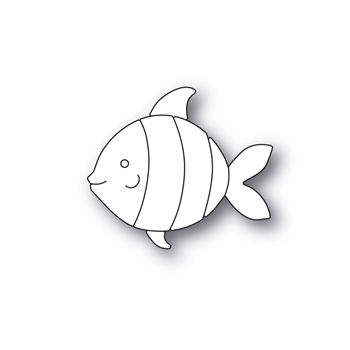 Simon Says Stamp PICTURE BOOK FISH Wafer Dies s595 Friendly Frolic