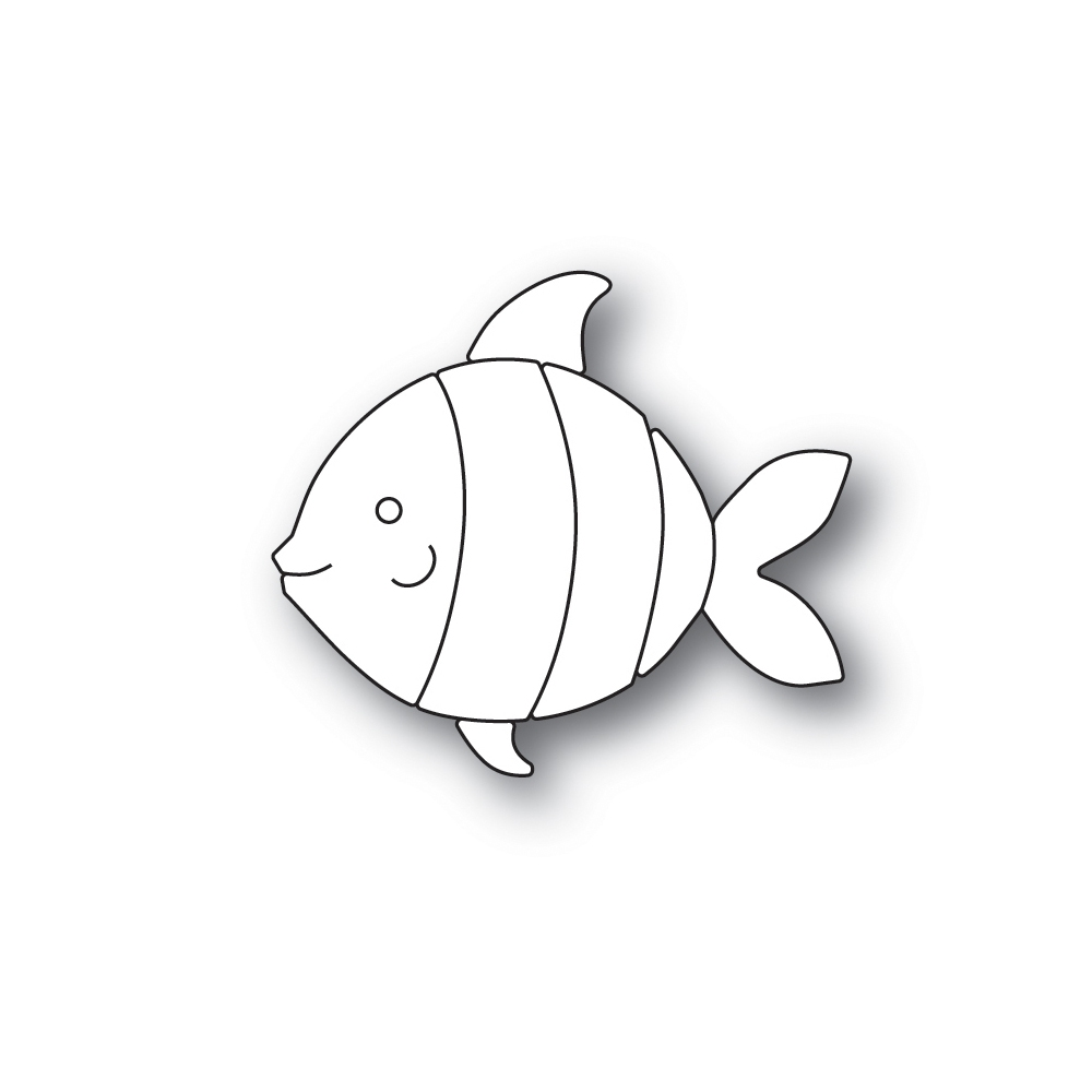 Simon Says Stamp PICTURE BOOK FISH Wafer Dies s595 Friendly Frolic zoom image