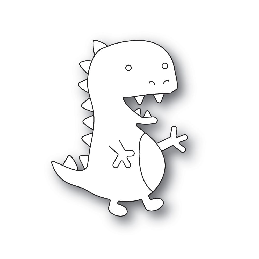 Simon Says Stamp PICTURE BOOK T-REX Wafer Dies s598 Friendly Frolic zoom image