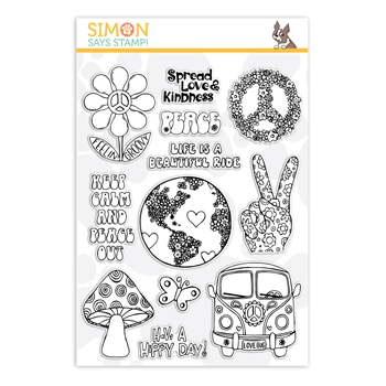 Simon Says Clear Stamps MORE GOOD VIBES sss101920 Friendly Frolic *