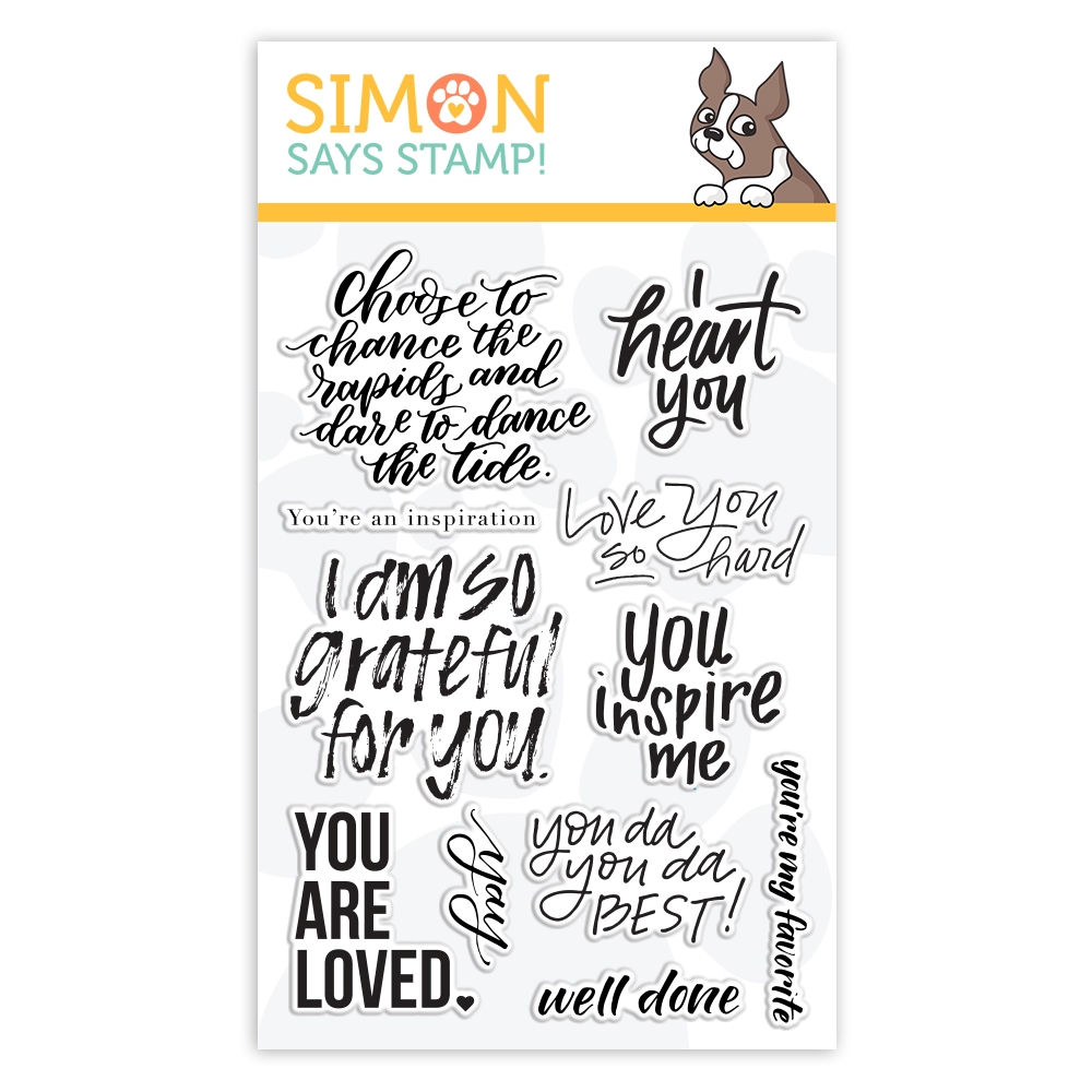Simon Says Clear Stamps UPLIFTING SENTIMENTS sss101909 Friendly Frolic zoom image
