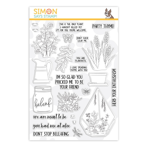 Simon Says Clear Stamps PLANTIFUL PUNS sss101863 Friendly Frolic * Preview Image
