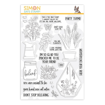 Simon Says Clear Stamps PLANTIFUL PUNS sss101863 Friendly Frolic *
