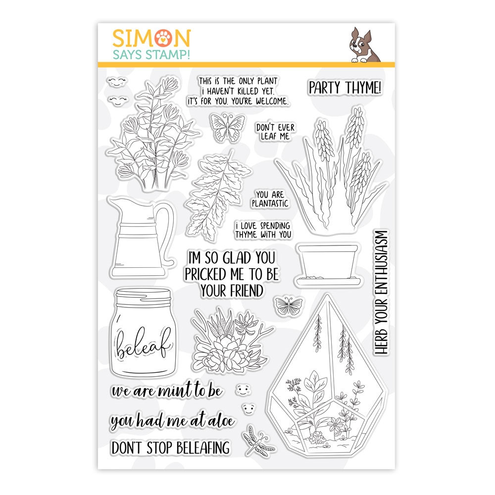 Simon Says Clear Stamps PLANTIFUL PUNS sss101863 Friendly Frolic * zoom image