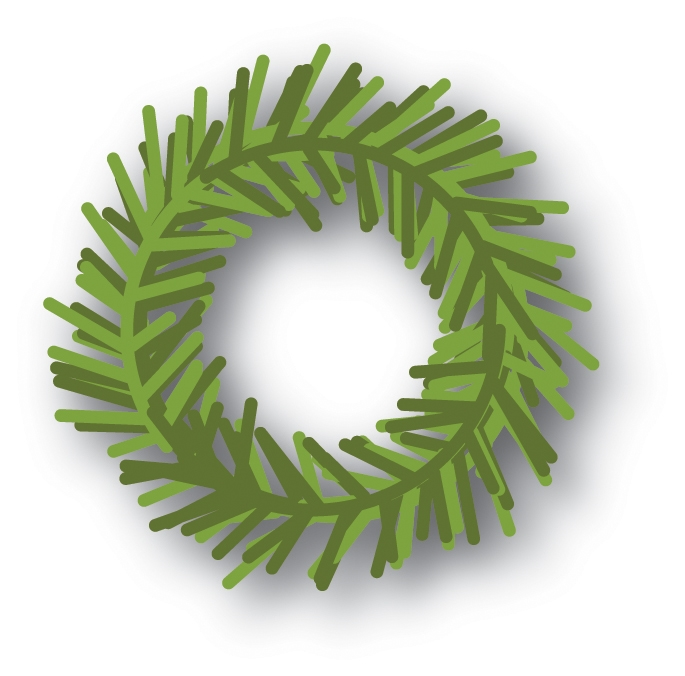 Memory Box PINE WREATH Craft Die 94029 zoom image