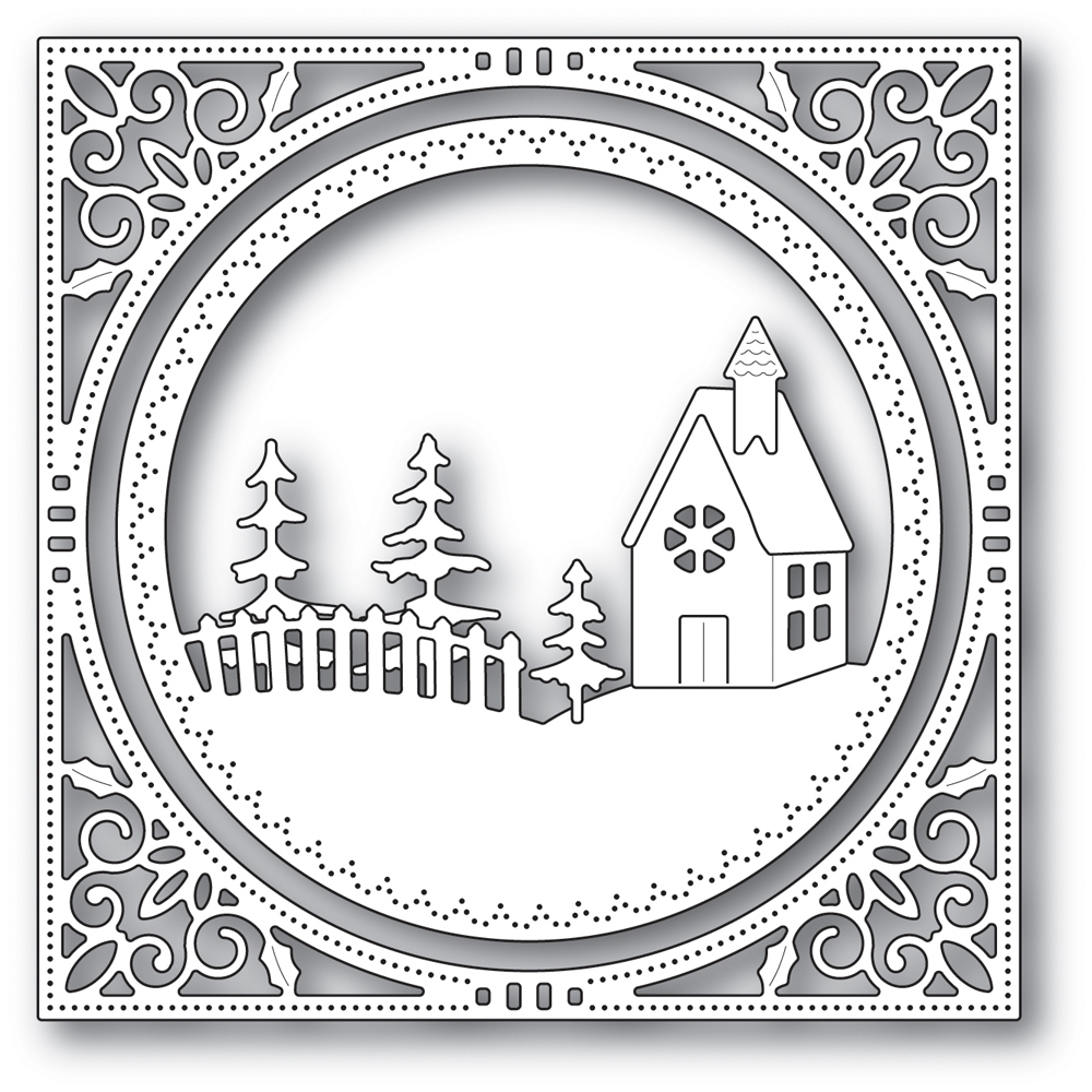 Memory Box COUNTRY CHURCH FRAME Craft Die 94038 zoom image