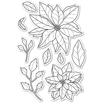 Poppy Stamps Clear Stamps POINSETTIA DELIGHTS cl466