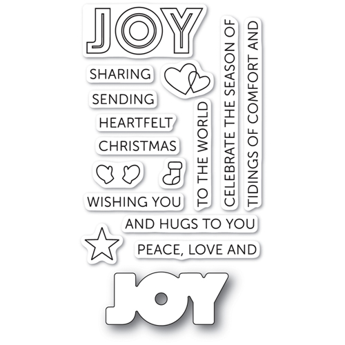 Poppy Stamps TIDINGS OF JOY Die and Stamp Set cl467 Preview Image