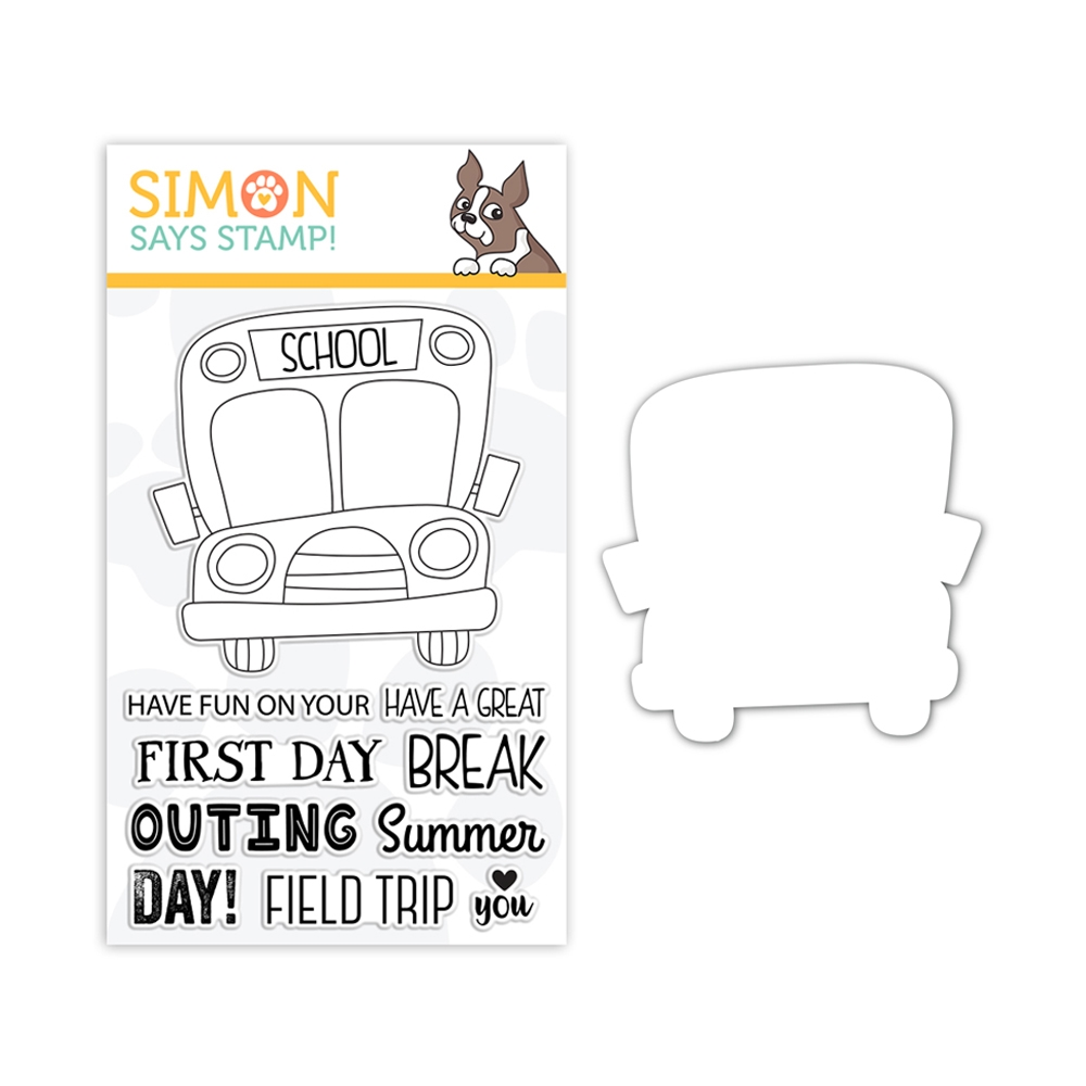 Simon Says Stamps And Dies SCHOOL BUS MESSAGES set327sbm Friendly Frolic zoom image