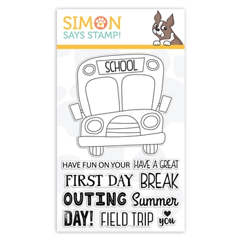 Simon Says Clear Stamps SCHOOL BUS MESSAGES sss101866 Friendly Frolic