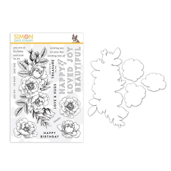 Simon Says Stamps And Dies BEAUTIFUL FLOWERS set330bf Friendly Frolic