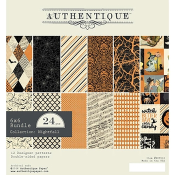 Authentique 6 x 6 NIGHTFALL Paper Pad ngt010*
