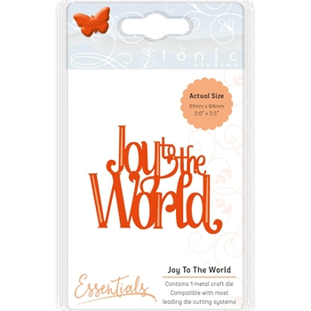 Tonic JOY TO THE WORLD Essentials Die Set 1402e*