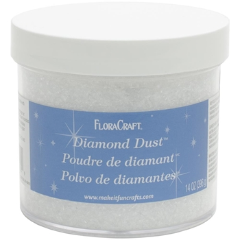 FloraCraft DIAMOND DUST Iridescent Glitter Large 14 Ounce Jar