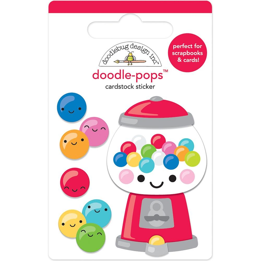 Doodlebug GUM-BELIEVABLE Doodle Pops 3D Stickers So Much Pun 6044 zoom image