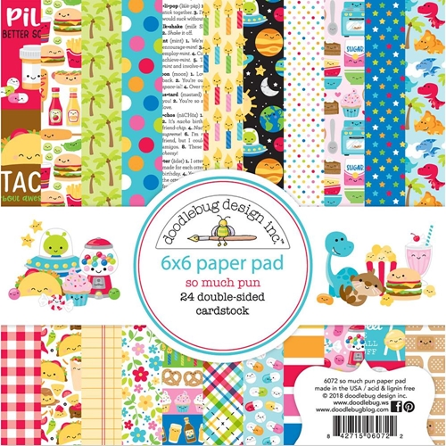 Doodlebug SO MUCH PUN 6x6 Inch Paper Pad 6072 Preview Image