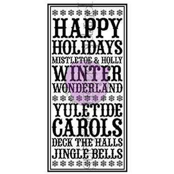 Purple Onion Designs HAPPY HOLIDAYS NOTEBLOCK Cling Stamp pod7001